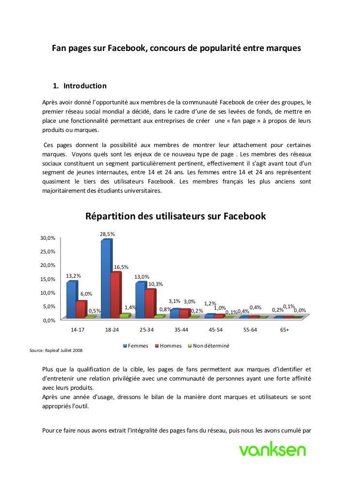 Analyse des fan pages de Facebook Slide 2