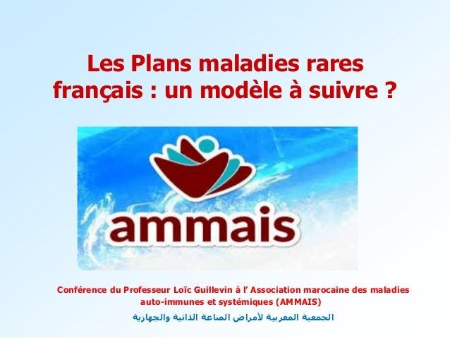 Les Plans maladies rares français : un modèle à suivre ? Conférence du Professeur Loïc Guillevin à l' Association marocain...