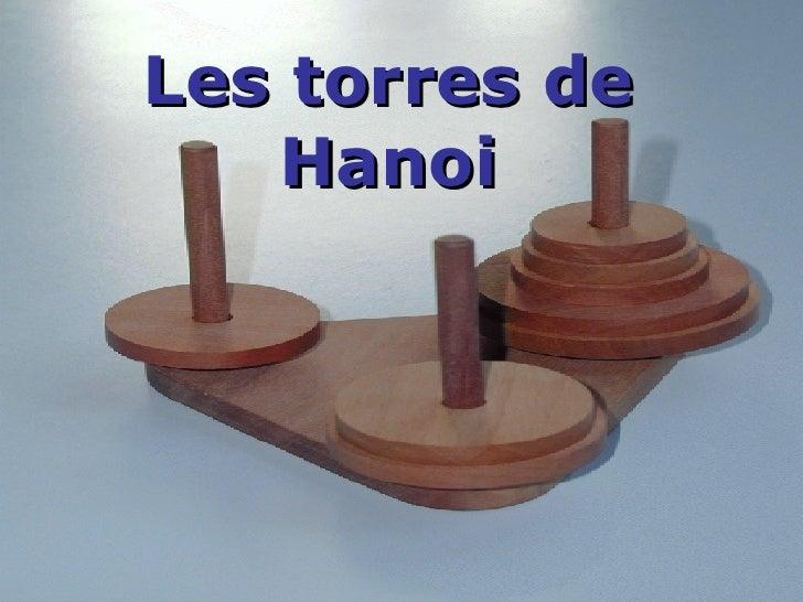 Les torres de Hanoi