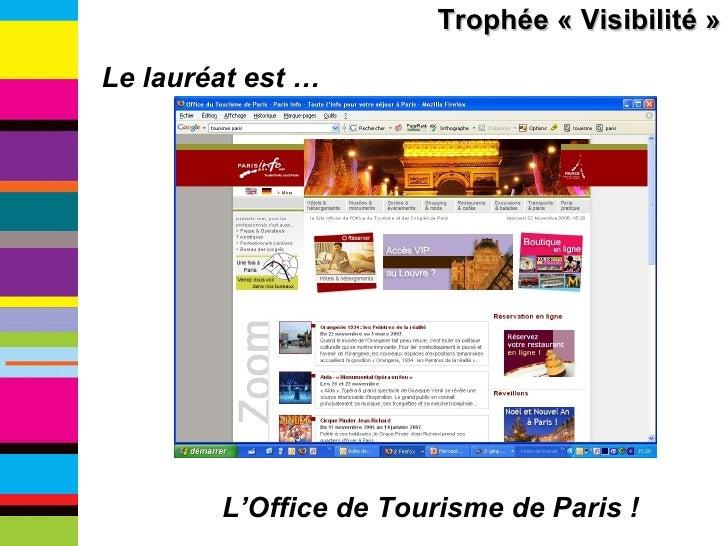Les troph es du etourisme institutionnel for Office de tourisme yvelines