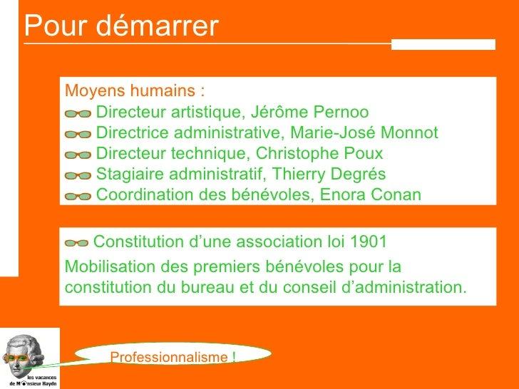 Les vacances de monsieur haydn enora conan stage mopa - Renouvellement du bureau d une association loi 1901 ...