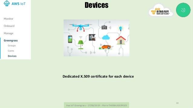 AwsIoTGreengrass--27/06/2019--PierreTHIEBAUGEORGES 10 Devices DedicatedX.509certificateforeachdevice