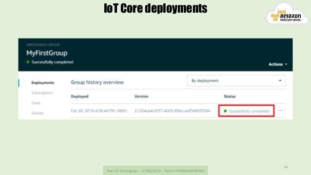 AwsIoTGreengrass--27/06/2019--PierreTHIEBAUGEORGES 16 IoT Core deployments