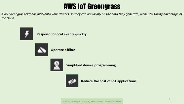 AwsIoTGreengrass--27/06/2019--PierreTHIEBAUGEORGES 7 AWS IoT Greengrass AWSGreengrassextendsAWSontoyourdevi...