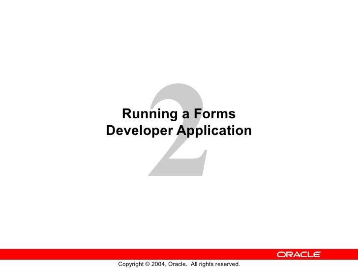 Running a Forms Developer Application