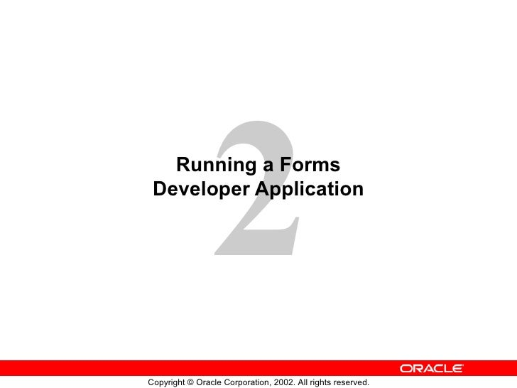 Running a Forms Developer Application
