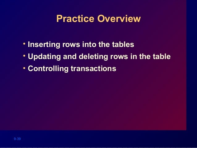 Oracle delete all table rows