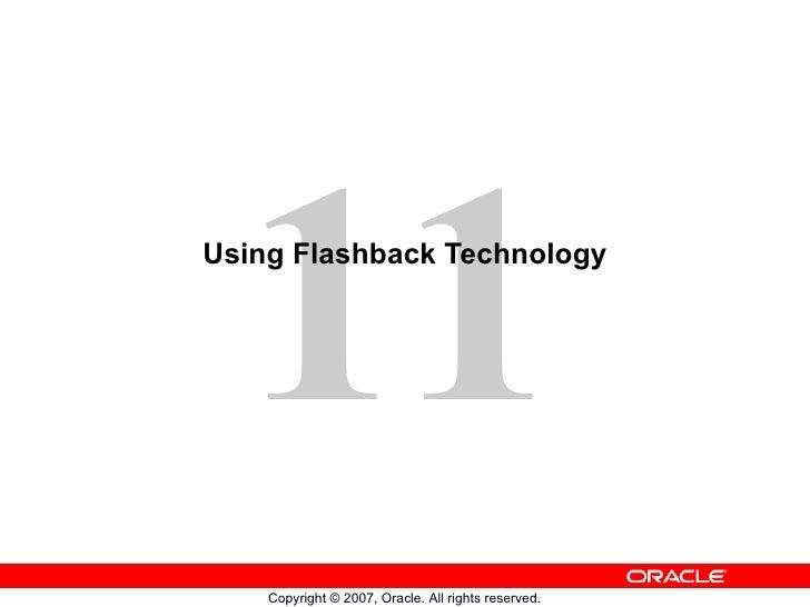 Using Flashback Technology