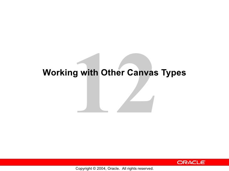 Working with Other Canvas Types