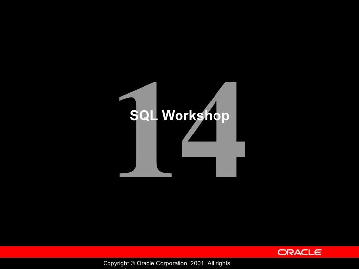 SQL Workshop