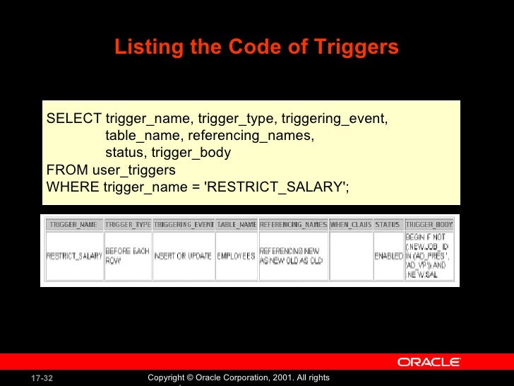 Oracle compilation errors