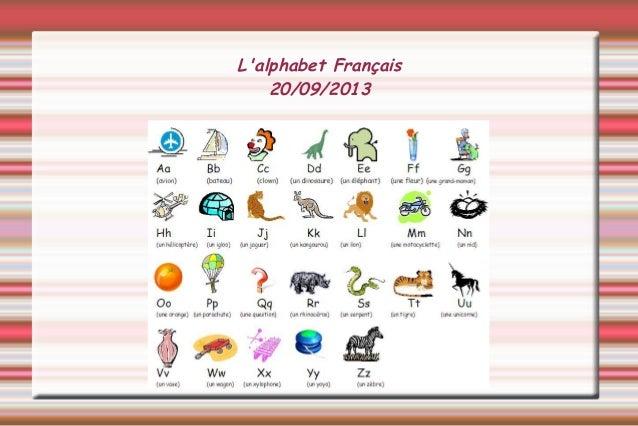 L'alphabet Français 20/09/2013