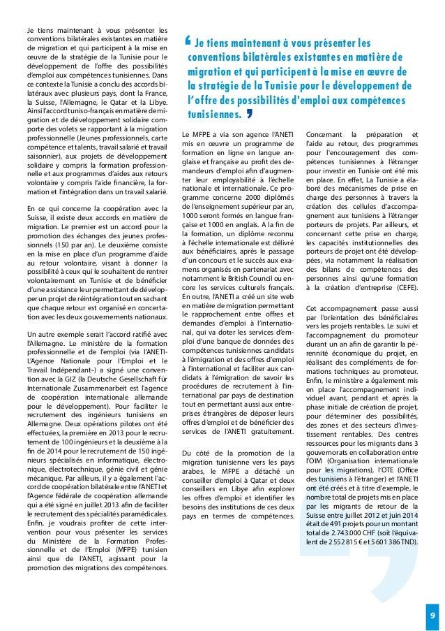 Les actes de tunis les migrations de la connaissance dans - Office des migrations internationales ...