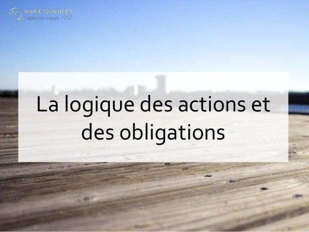 La logique des actions et des obligations