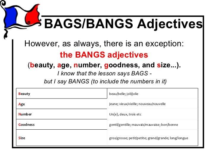 Bangs Adjectives Roho4senses
