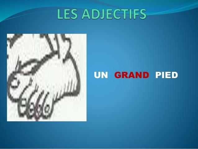 Les adjectifs Slide 2