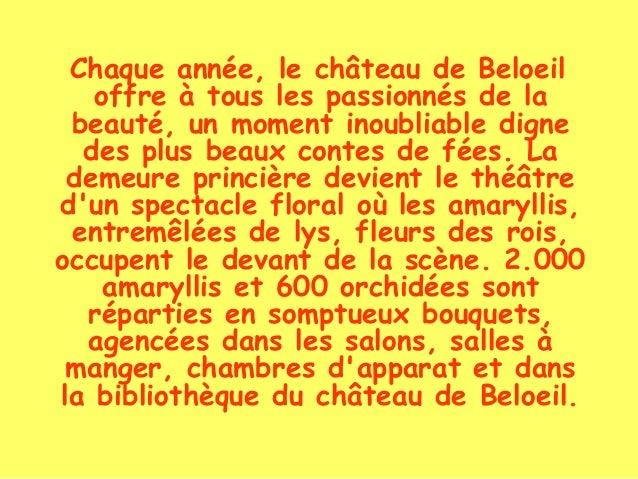Chaque année, le château de Beloeil offre à tous les passionnés de la beauté, un moment inoubliable digne des plus beaux c...
