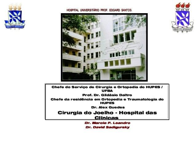 HOSPITAL UNIVERSITÁRIO PROF. EDGARD SANTOSHOSPITAL UNIVERSITÁRIO PROF. EDGARD SANTOS Chefe do Serviço de Cirurgia e Ortope...