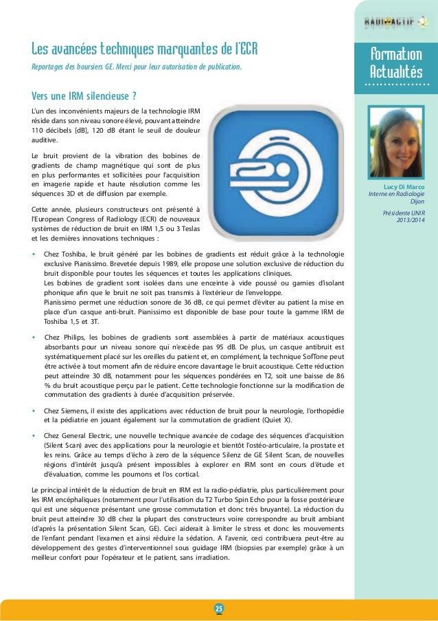 25 Les avancées techniques marquantes de l'ECR Reportages des boursiers GE. Merci pour leur autorisation de publication. V...