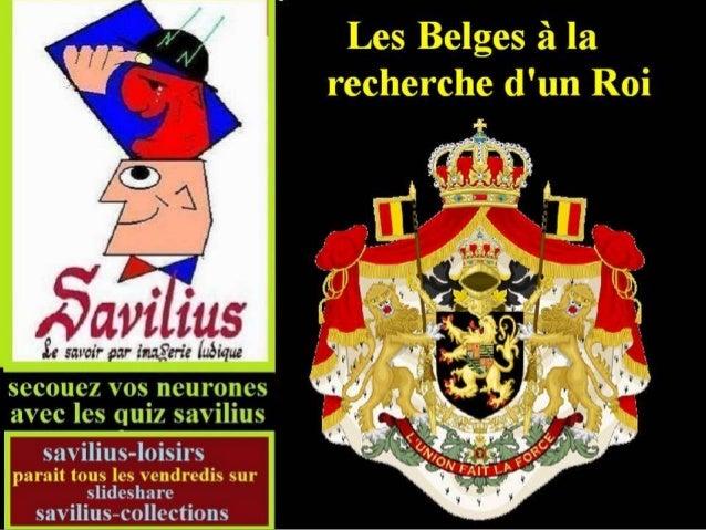 Les belges à la recherche d'un roi