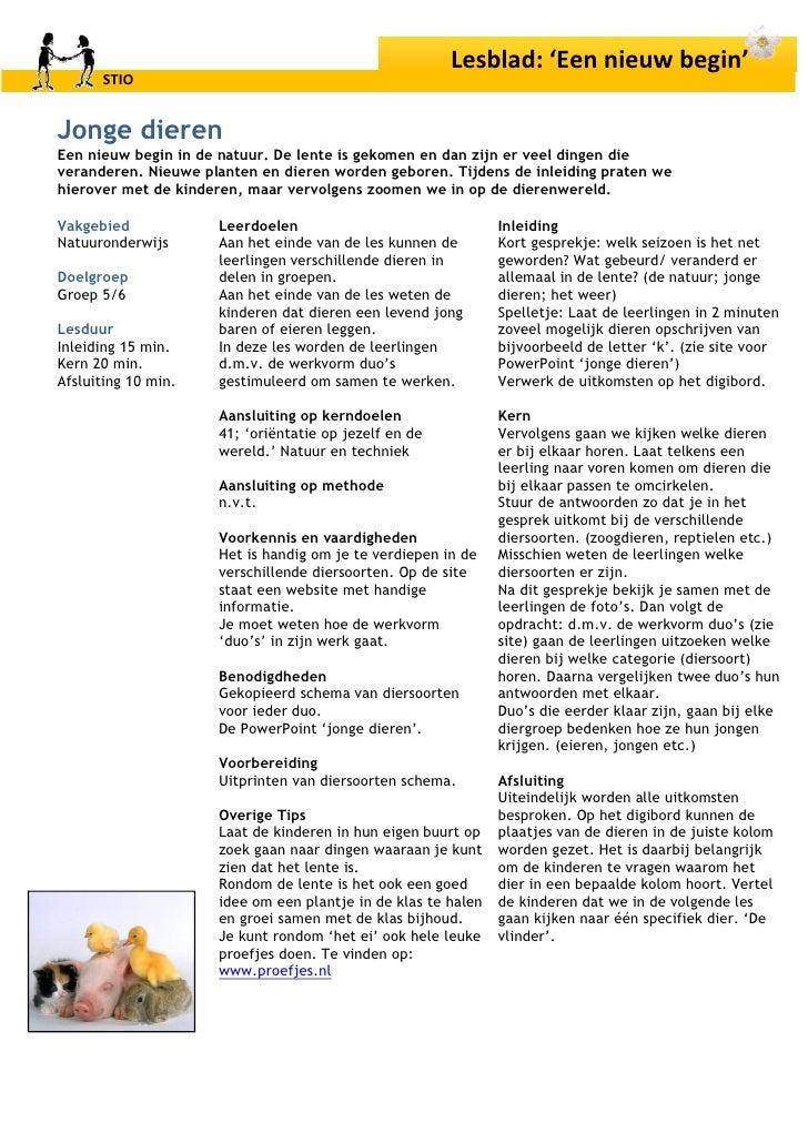 New gr. 5/6 Jonge Dieren 1 (...In De Natuur) &UI74