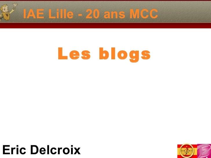 IAE Lille - 20 ans MCC Les blogs