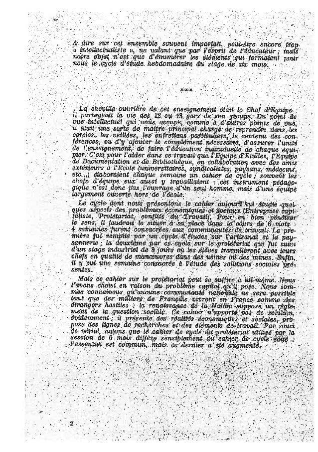 Les cahiers d'uriage 1942 Slide 2