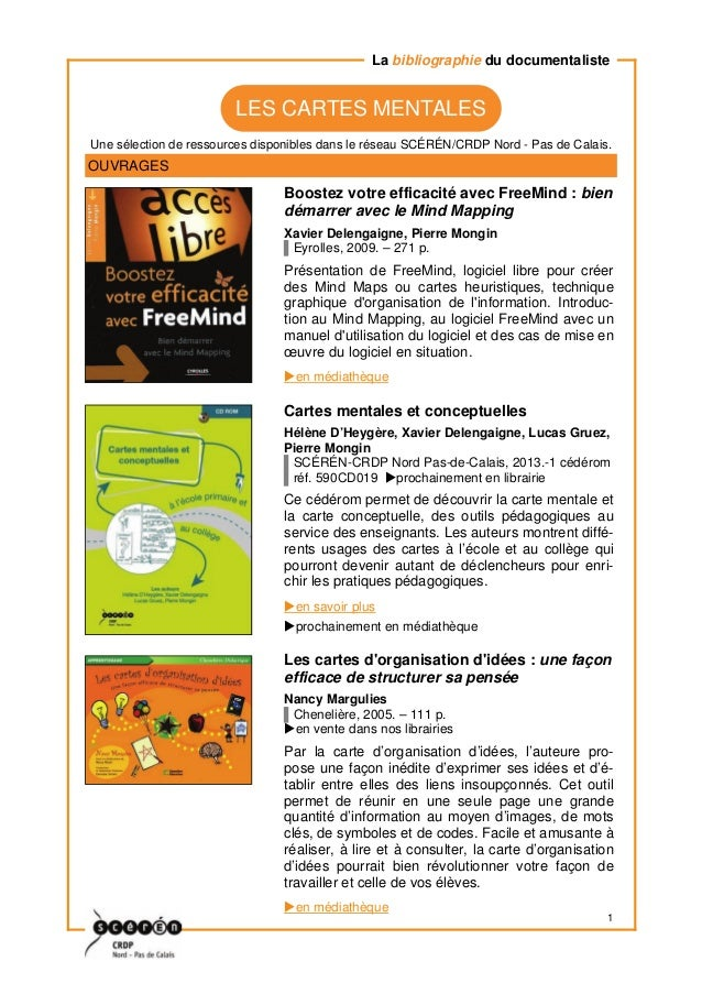 1 Une sélection de ressources disponibles dans le réseau SCÉRÉN/CRDP Nord - Pas de Calais. La bibliographie du documentali...