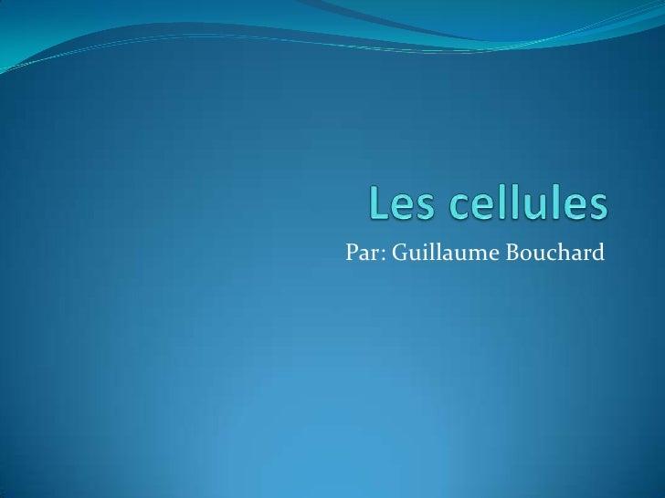 Les cellules<br />Par: Guillaume Bouchard<br />
