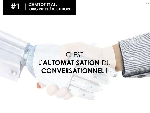 29 C'EST L'AUTOMATISATION DU CONVERSATIONNEL ! #1 CHATBOT ET AI : ORIGINE ET ÉVOLUTION