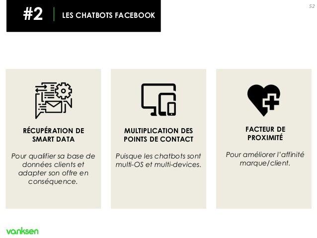 52 FACTEUR DE PROXIMITÉ Pour améliorer l'affinité marque/client. RÉCUPÉRATION DE SMART DATA Pour qualifier sa base de donn...