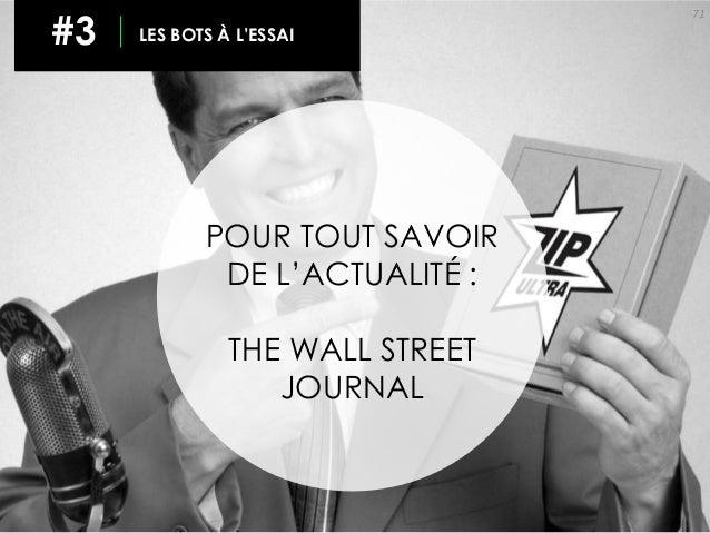 71 #3 LES BOTS À L'ESSAI POUR TOUT SAVOIR DE L'ACTUALITÉ : THE WALL STREET JOURNAL