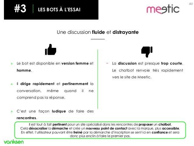 80 #3 LES BOTS À L'ESSAI Une discussion fluide et distrayante + Le bot est disponible en version femme et homme. + Il diri...