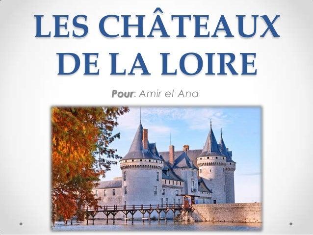 LES CHÂTEAUX DE LA LOIRE Pour: Amir et Ana