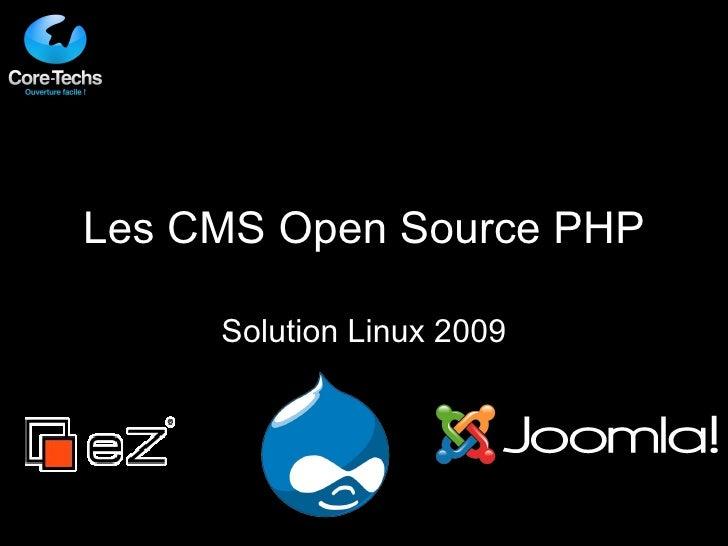 Les CMS Open Source PHP Solution Linux 2009