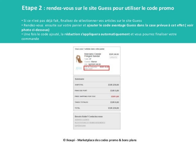 Les codes promo guess guide par ikoupi Slide 3