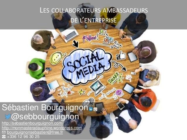 LES COLLABORATEURS AMBASSADEURS DE L'ENTREPRISE Sébastien Bourguignon @sebbourguignon http://sebastienbourguignon.com/ htt...