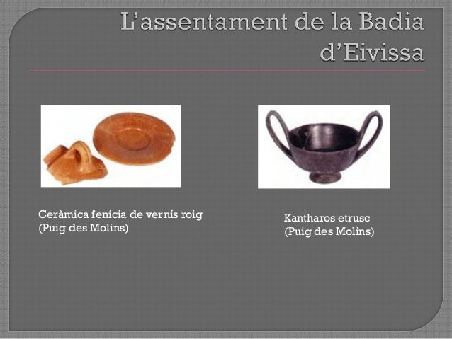 """ Importants canvis materials en els jaciments arqueològics d""""Eivissa a partir de ½ s.VI aC  canvi profund  sense deixar..."""