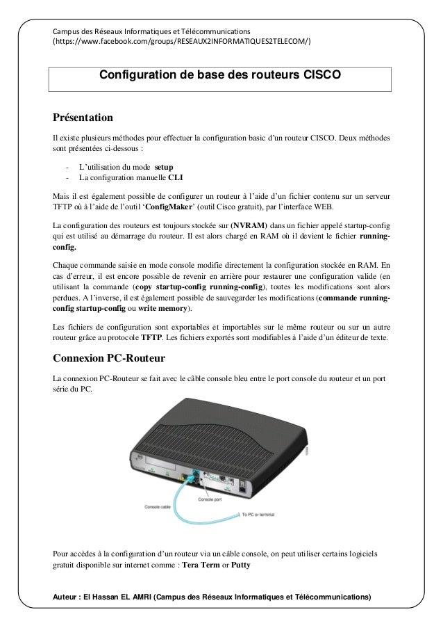 Campus des Réseaux Informatiques et Télécommunications (https://www.facebook.com/groups/RESEAUX2INFORMATIQUES2TELECOM/) Au...
