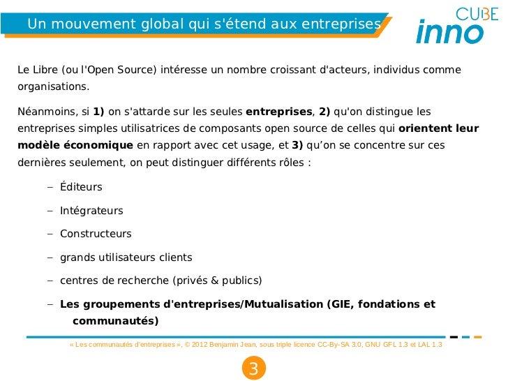 Les communautés d'entreprises - «l'Open Source comme terrain dentente po… Slide 3