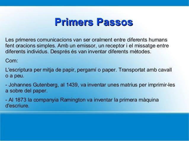 Les comunicacions Slide 2