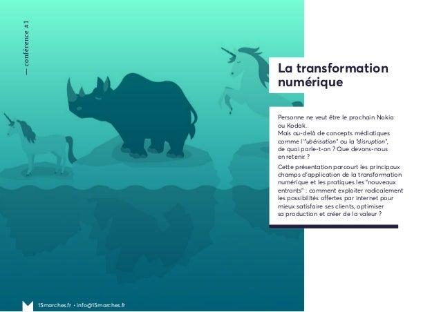 Les conférences de 15marches pour comprendre la transformation numérique Slide 3
