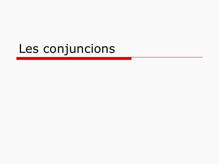 Les conjuncions