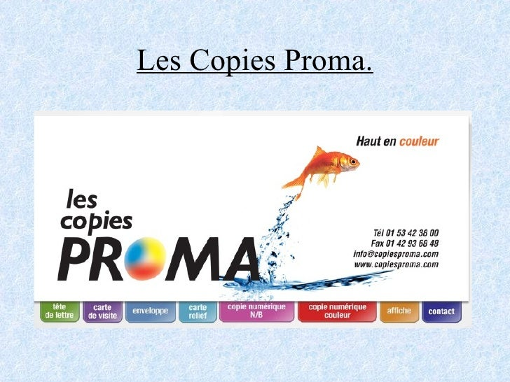 Les Copies Proma.
