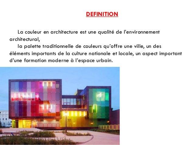 Cours th orie de projet les couleurs et l 39 architecture for Architecture traditionnelle definition