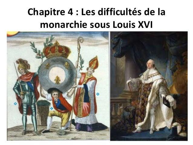 Chapitre 4 : Les difficultés de la  monarchie sous Louis XVI