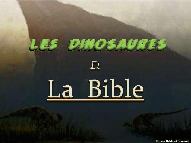 EtLa Bible           O.Le – Bible et Science