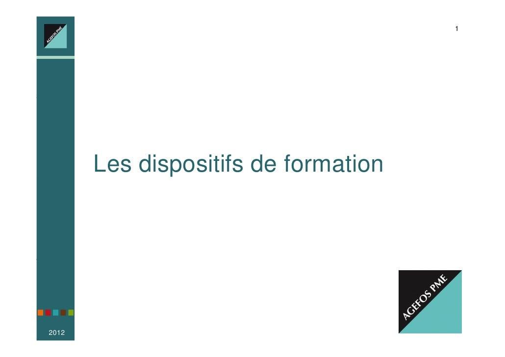 1                Votre Conseiller Emploi-Formation, partout en France       Les dispositifs de formation2012