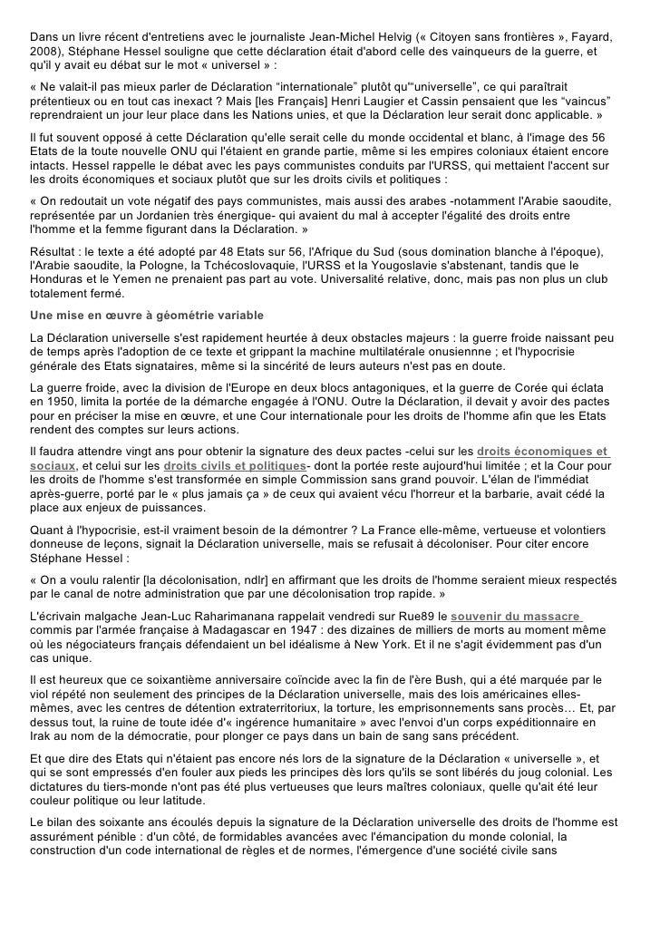 Dans un livre récent d'entretiens avec le journaliste Jean-Michel Helvig (« Citoyen sans frontières », Fayard, 2008), Stép...