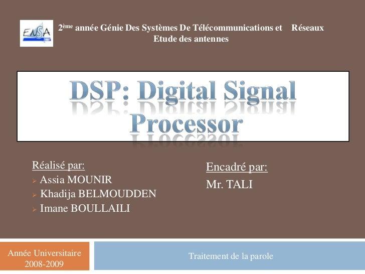 2ème année Génie Des Systèmes De Télécommunications et   Réseaux                                     Etude des antennes   ...